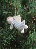 Fabric angel to be suspended (ref.2), Nostalgic christmas