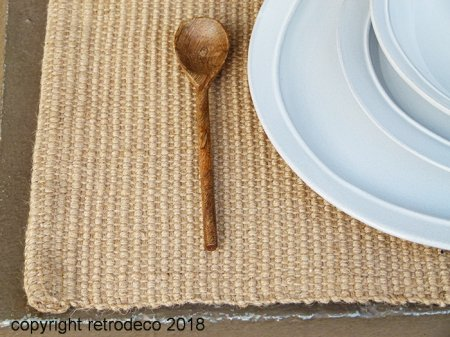 Set de table rectangulaire en jute, déco campagne, Ib Laursen