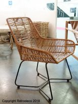 Natural rattan chair Wavy Chehoma