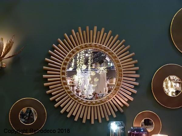 Grand Miroir Babou Buchette Déco Bohème Athezza Ath 0092288