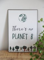 Metal sign Planet B Ib laursen