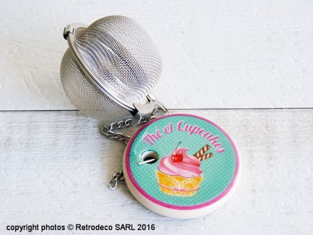 Tea ball Thé et Cupcakes, cosy deco, Antic Line