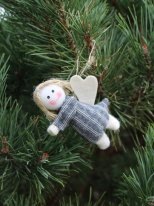 Fabric angel to be suspended (ref.3), Nostalgic christmas
