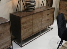 Wooden dresser Agra 2 doors 3 drawers, factory decor, Hanjel