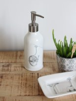 Ceramic soap dispenser Télécabine Lapique, mountain decor