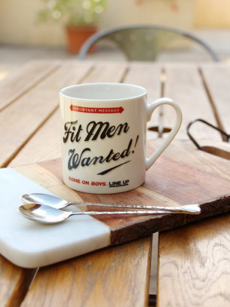 Mug porcelaine Fit men wanted, Wild & Wolf