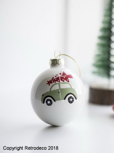 Christmas ball green car, christmas style, Ib Laursen