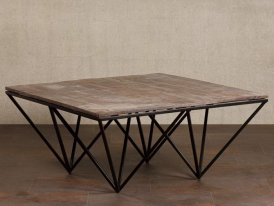 Table basse acacia Reverse Chehoma