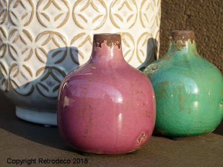 Mini ceramic vase pink Chehoma