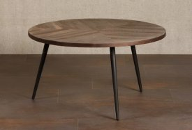 Round table recycled teak, country decor, Chehoma