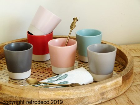 Set de 6 tasses expresso coloris Pastel Athezza