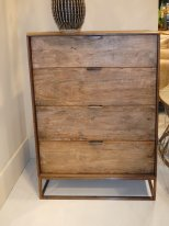 Wooden chest of 4 drawers Agra, factory decor, Hanjel