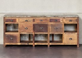 Pine workshop sideboard Fabrica 10 drawers Chehoma