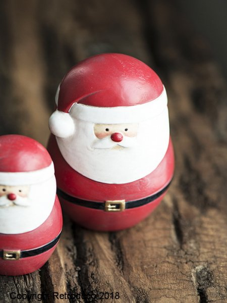 Red Santa Claus standing, christmas style, Ib Laursen