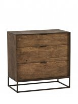 Chest of 3 drawers Agra, factory style, Hanjel