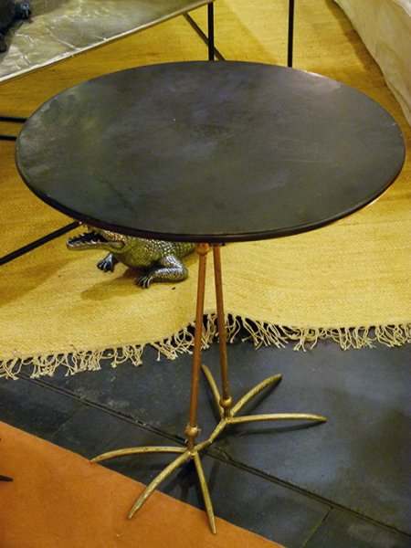 Black metal side table Heron Hanjel