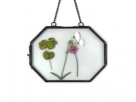 Small hexagonal photo frame to be suspended Chehoma