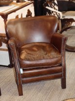 Leather armchair Turner Chehoma, antique style