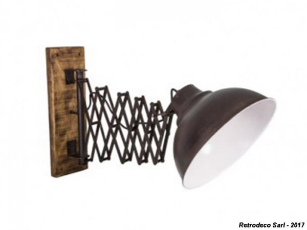Industrial telescopic wall lamp antic line seb