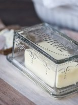 Glass butter box, country decor, Ib Laursen