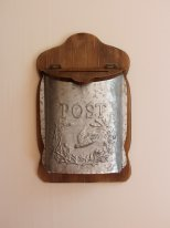 Wooden and zinc letter box Post, country decor, Antic Line