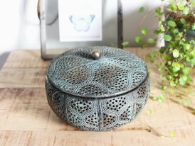Antique metal box Izmir, ethnic style, Athezza