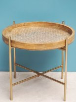 Rattan complement table, country decor, Chehoma
