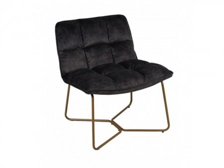 Fauteuil Butano velours anthracite Hanjel