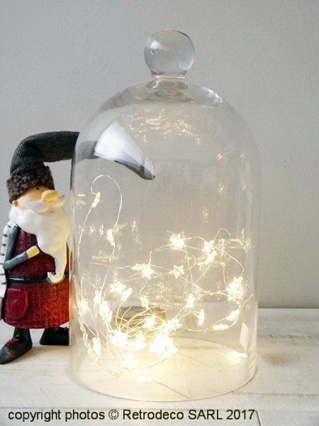 Décorations De Noël Clochette zinc cœur Décorations de Noël argent Shabby Chic