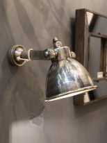 Nickel restaurant wall lamp, Chehoma, factory style