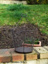 Small metal garderner basket, countryside style, Chehoma