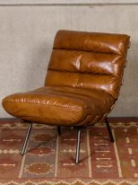 Leather armchair Spinal Chehoma, vintage decor