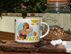 Mug Côte d'Azur, fifties style, Natives Deco