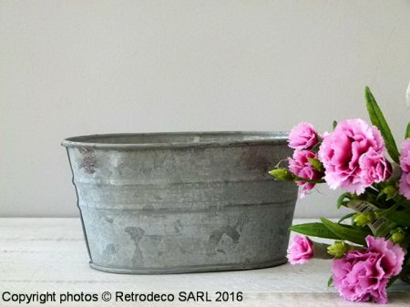 Small zinc trough Chartwell, countryside deco, Tobs