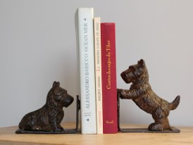 Cast iron book stop dog Scottish, antique decor, Antic Line