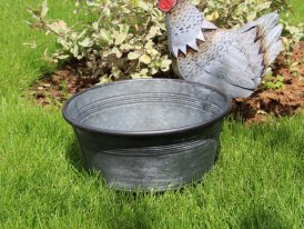 Small zinc basin Urban Garden, country decor, Ib Laursen