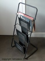 Black metal magazines rack, factory style, Antic Line