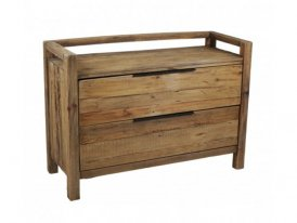 Wooden chest of 2 drawers Berry, country style, Hanjel