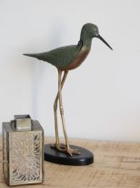 Brass and cast iron box bird, antique style, Chehoma