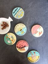 Set of 6 coasters Sardine, seaside style, Sphere Inter