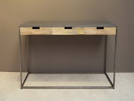 Console 3 drawers metal and mango Brooke, Chehoma