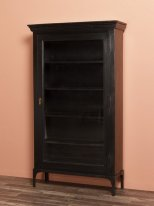 Black wooden and metal cabinet Malcom Chehoma