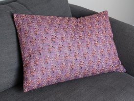 Rectangular cushion cotton floral print Madam Stoltz