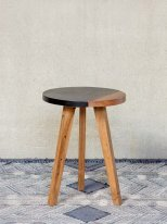 Round acacia complement table Okavango Chehoma