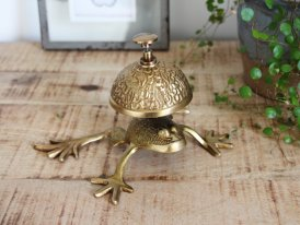 Brass bar bell Rainette, antique decor, Chehoma