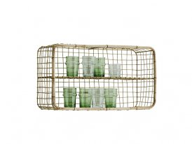 Rectangular iron shelf with bamboo Madam Stoltz