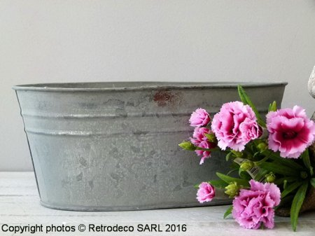 Large zinc trough Chartwell, countryside deco, Tobs