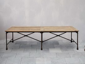 Wooden table 270 cm Chehoma, factory style
