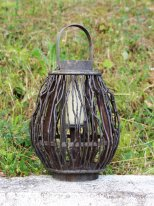 Brushwood lantern, country decor, Pomax