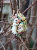Hanging deco easter egg Lapin Artiste Chehoma